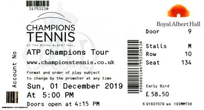 myWorld Champions Tennis 2019 ticket