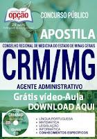 Apostila CRM Minas Gerais Agente Administrativo 2017.