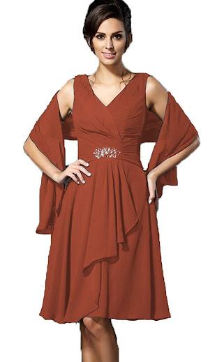 Short Knee Length Mother of The Groom Dresses
