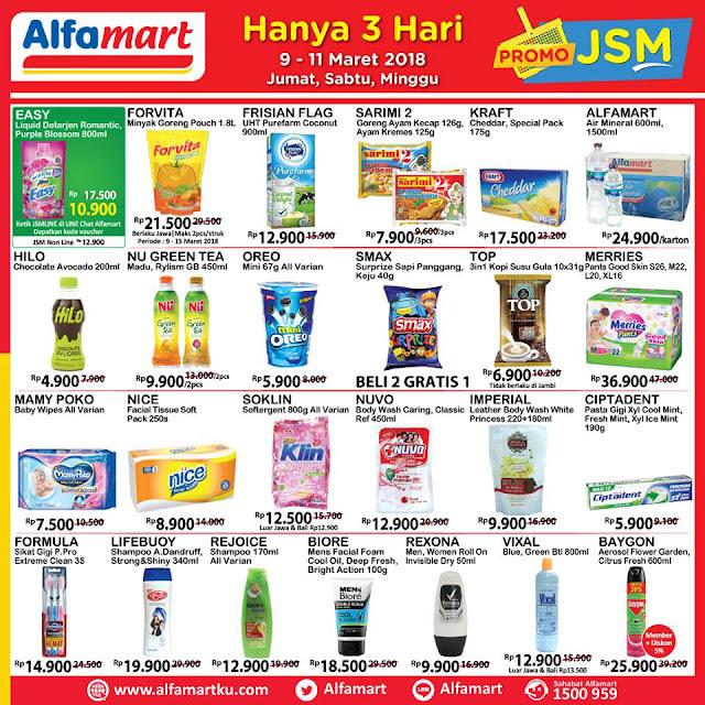 Katalog Promo ALFAMART JSM Akhir Pekan Weekend Periode 09 - 11 Maret 2018