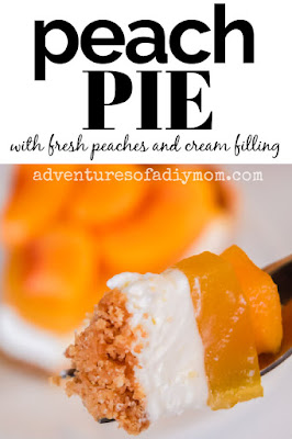 peach pie made with fresh peaches and a cream filling