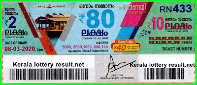 LIVE: Kerala Lottery Result 08-03-2020 Pournami RN-433 Lottery Result