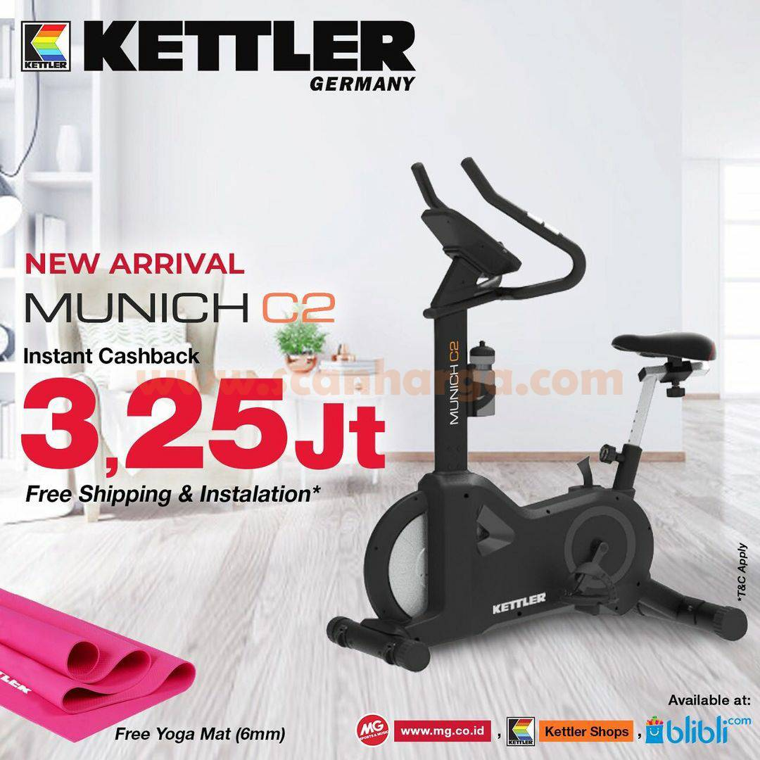 Promo KETLLER Munich C2 Bike Series – INSTANT CASHBACK Rp 3,25 Jt + Hadiah Spesial Kettler Yoga Mat