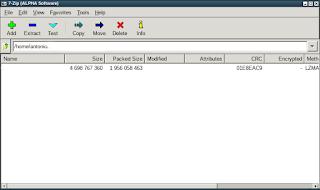 P7zip compactação de arquivos