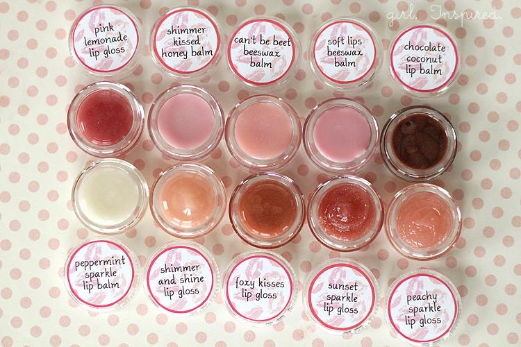 Lip Gloss DIY and Printable Labels - girl. Inspired.