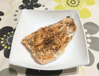 Salmon in papillote in Crock Pot