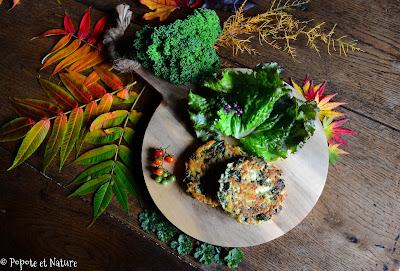 Galettes de pommes de terre et chou kale © Popote et Nature