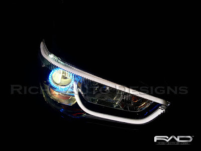 headlamp outlander, custom angel eyes wifi + devil eyes + drl line