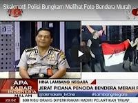 Ngakak, Polisi Bungkam Lihat Foto Bendera Merah Putih Metallica & Dihadiri Presiden (VIDEO)