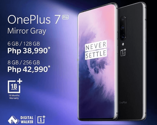 OnePlus 7 Pro arriving in the Philippines, priced announced