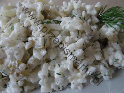 Sałatka ryżowa z koperkiem
