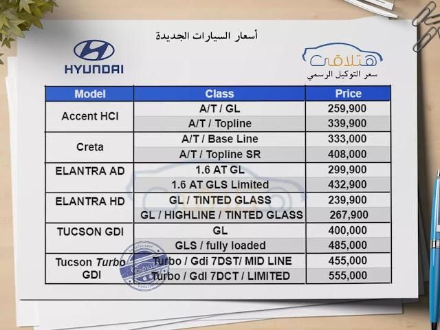 Hyundai Prices in Egypt