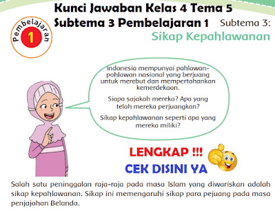 Kunci Jawaban Kelas 4 Tema 5 Subtema 3 Pembelajaran 1 www.simplenews.me