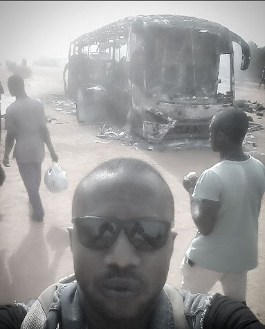 military officer escape fire accident