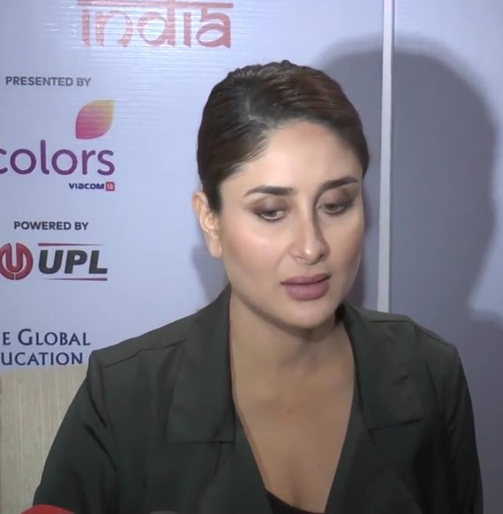 Actress Kareena Kapoor Face Closeup In Black Shirt