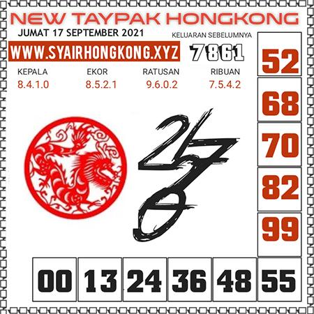 Prediksi New Taypak Hongkong Jumat 17 September 2021