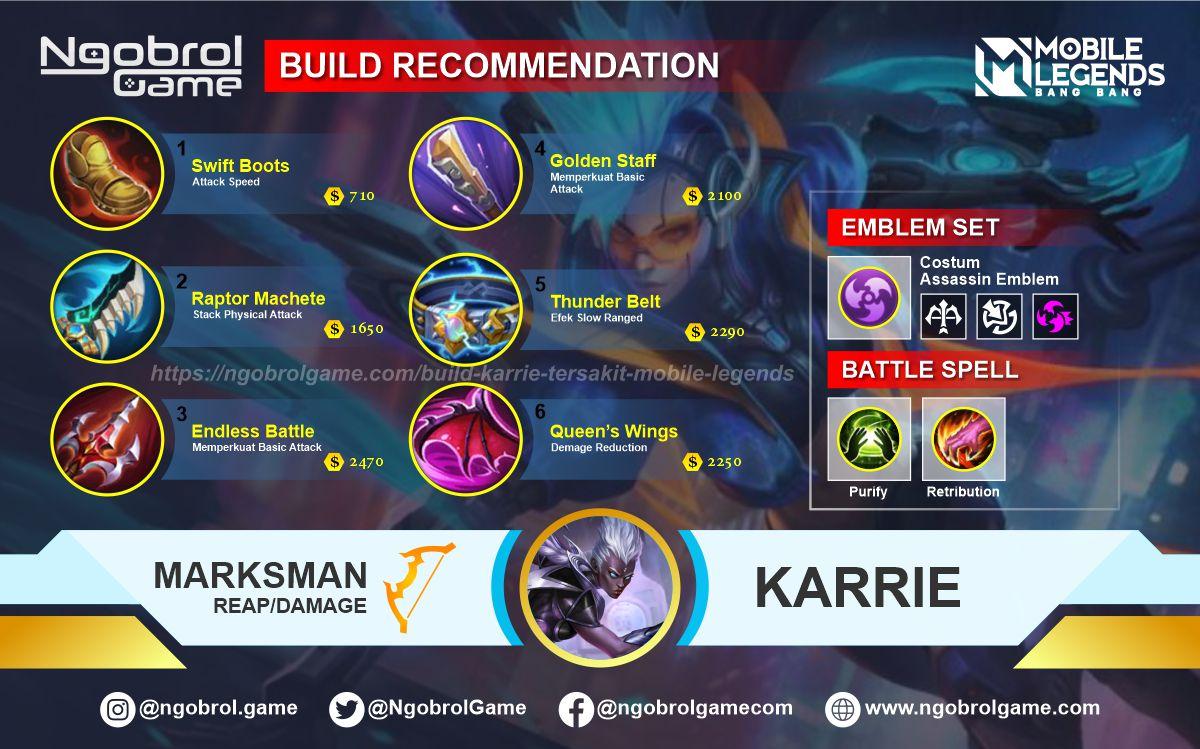 Build Karrie Savage Mobile Legends