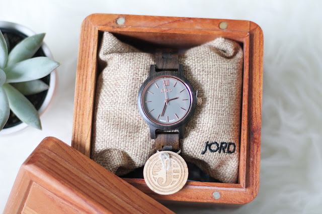 JORD Women's Watch Dark Sandalwood & Slate