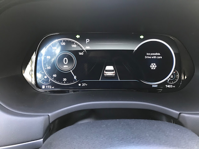 Instrument cluster in 2020 Hyundai Palisade Limited AWD