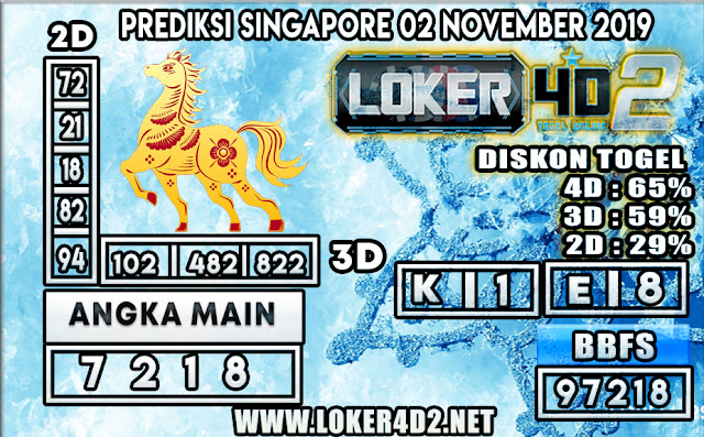 PREDIKSI TOGEL SINGAPORE LOKER4D2 02 NOVEMBER 2019