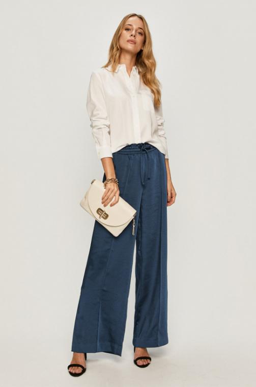 Calvin Klein Jeans - Camasa alba din tesatura neteda