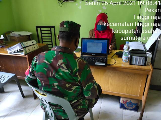 Diskusikan Kondisi Warga Binaan, Personel Jajaran Kodim 0208/Asahan Dengan Perangkat Desa