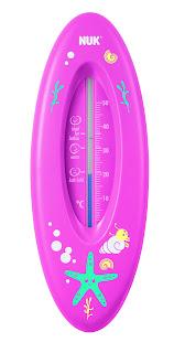 termômetro de banheira rosa