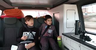 Morella y la furgoneta con la que llegamos.