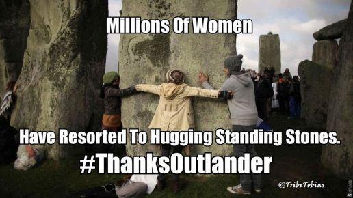 Hugging Stones Outlander