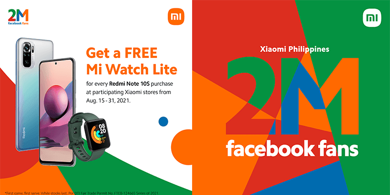 Xiaomi announces Redmi Note 10s promo with FREE Mi Watch Lite
