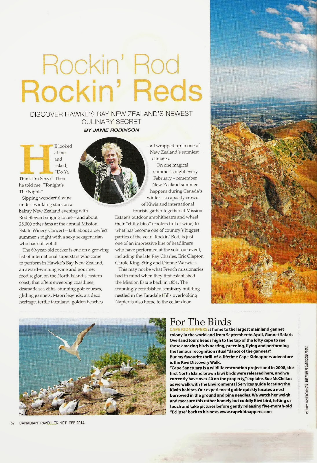 Hawke's Bay New Zealand. Photographs by Janie Robinson, Travel Writer