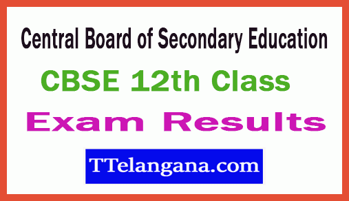 Central Board of Secondary Education 12th Class Results