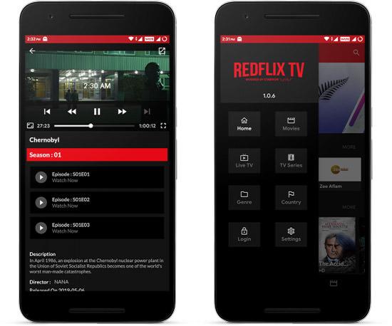 تحميل الإصدار الأخير Redflix TV APK لهواتف الاندرويد مع رابط مباشر