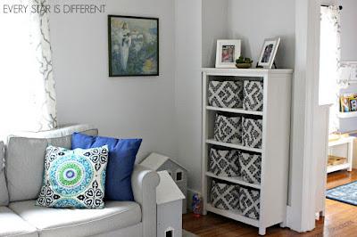 A Minimalist Montessori Home Tour: Living Room Toy Storage