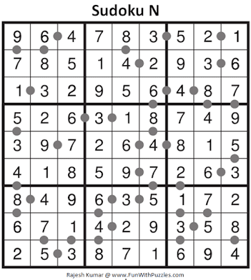 Answer of Sudoku N Puzzle (Fun With Sudoku #319)