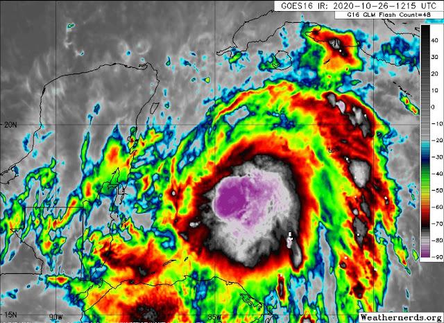 Zeta avanza hacia la Península como huracán categoría 1; se mete más a Yucatán