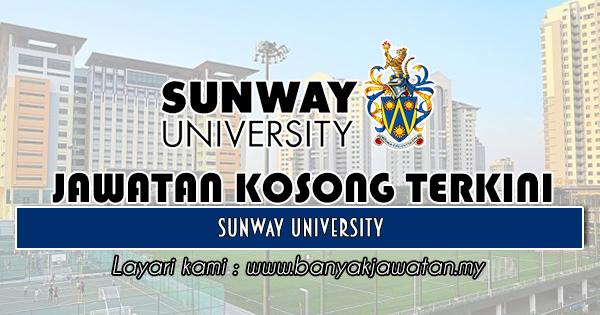 Jawatan Kosong 2018 di Sunway University