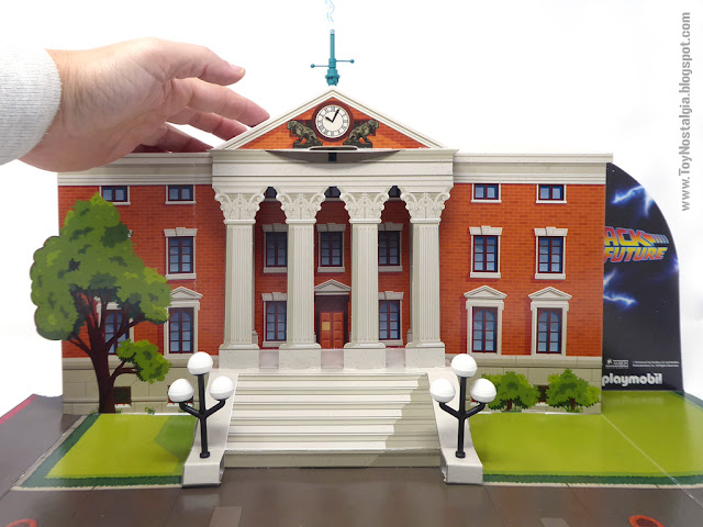 Escenario City Hall cartulina Playmobil Regreso al Futuro - Calendario de Adviento (Playmobil Back To The Future - Calendario de Adviento)