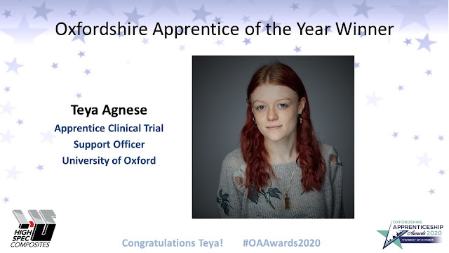 Teya Agnese, Oxfordshire Apprentice of the Year 2020