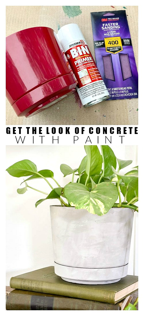 How to get the look of concrete with paint