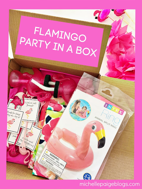 Pack up a flamingo party @michellepaigeblogs.com