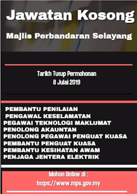 Jawatan Kosong Pelbagai Jawatan di Majlis Perbandaran Selayang 2019