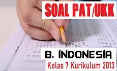 Download Soal PAT Bahasa Indonesia Kelas 7 SMP/MTs Kurikulum 2013