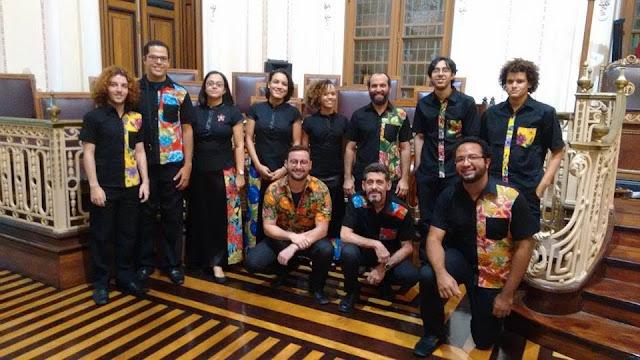 Grupo Flauta de Bloco no Museu da Cidade do Recife