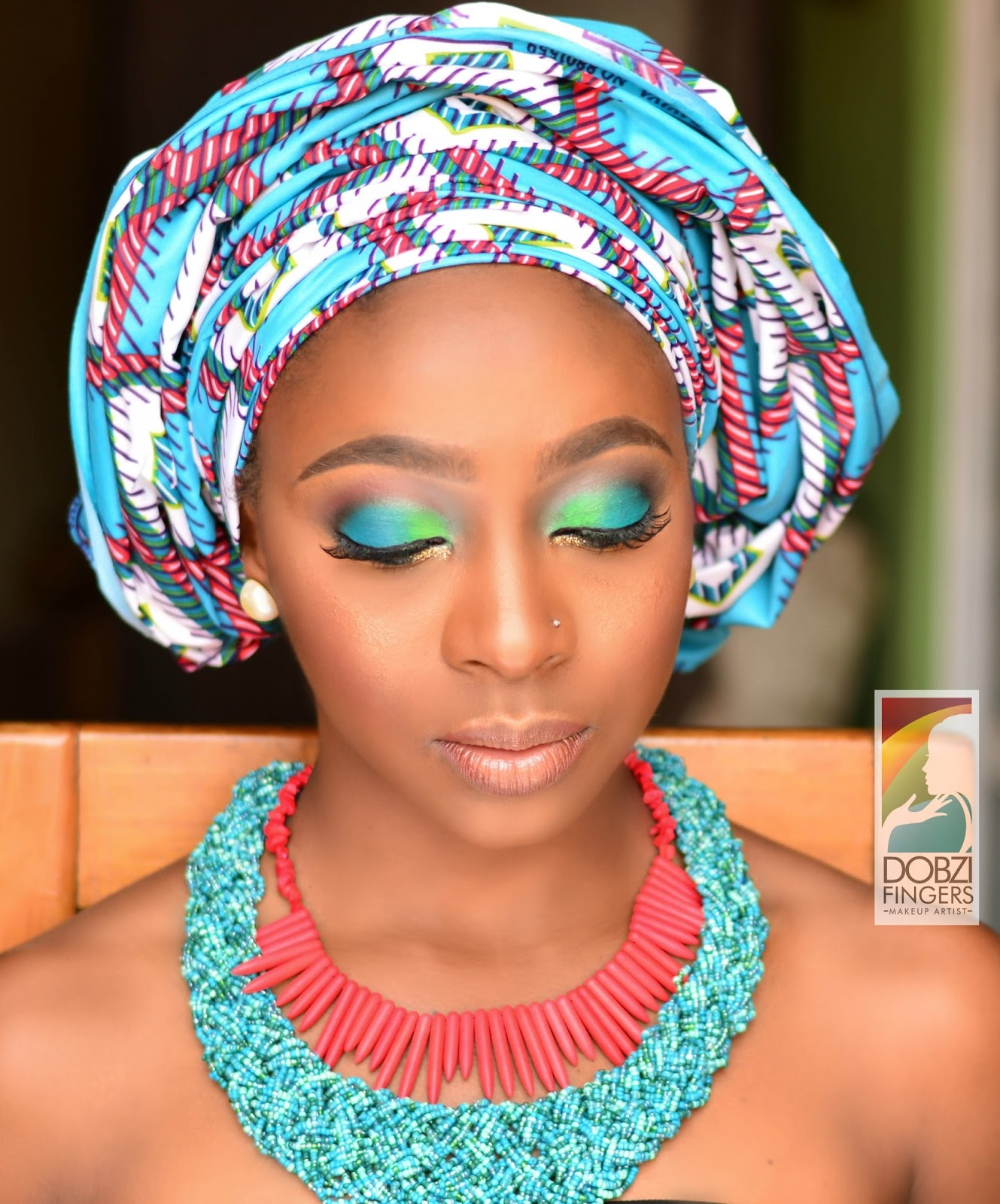 Dobzi Fingers - Ankara Inspired Makeup, Nigerian Makeup Artist