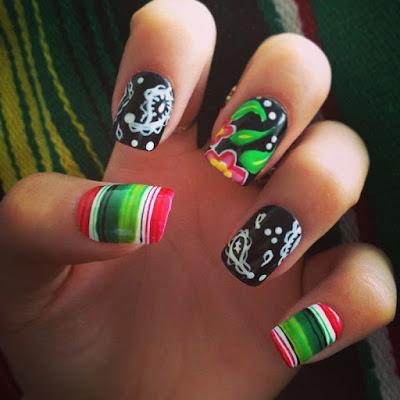 4th of July Summer Nail design
