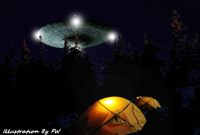 Disc-Shaped UFO Hovered Over Campers