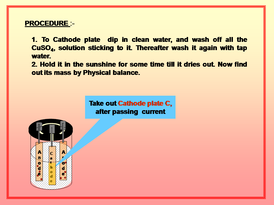 Physics Learn: Copper voltameter, to determine the electro chemical