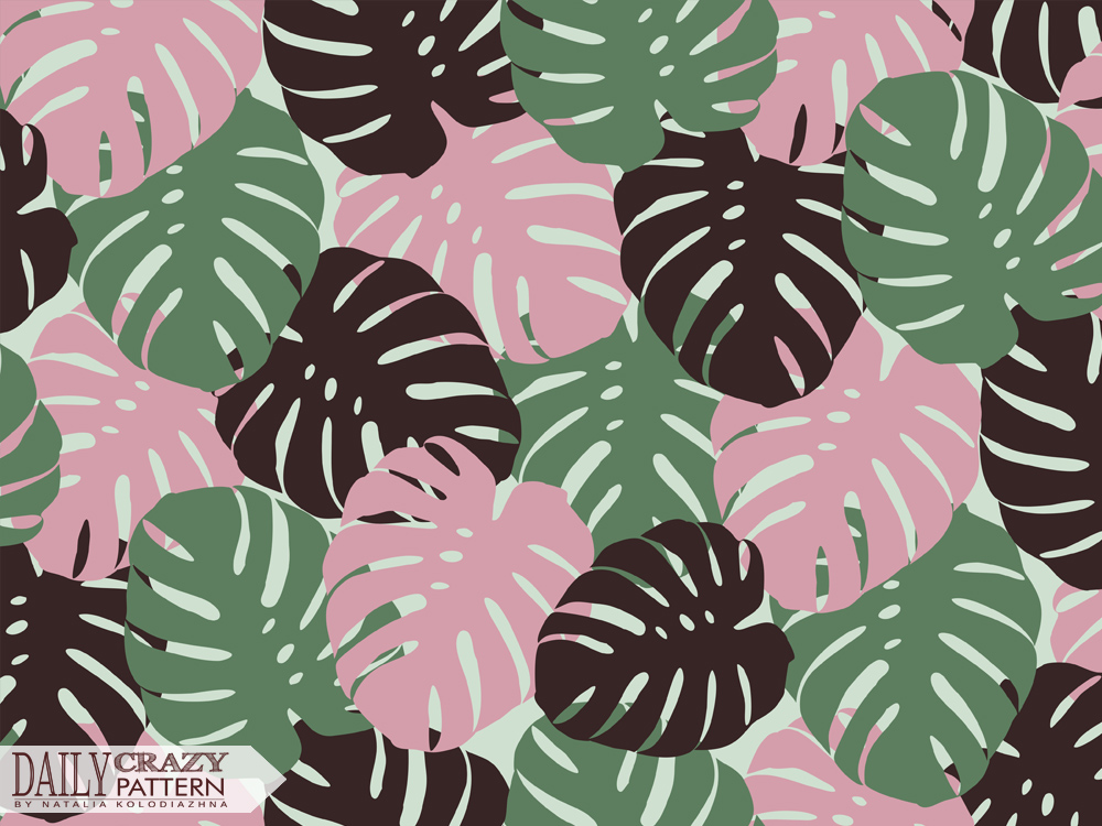 "Tropical floral pattern for ""Daily Crazy Pattern"" project"