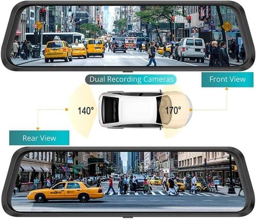 Sette Treinamentos Dash Cam Front Rear Dual Camera